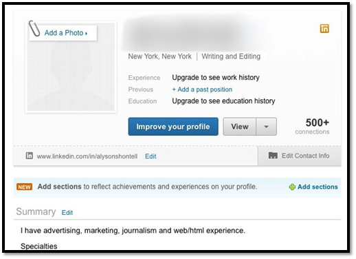 Linkedin no Profile Picture