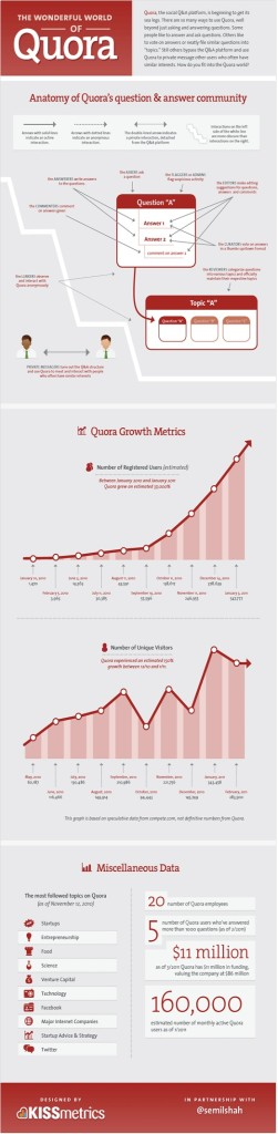 Infographic explaining how the Quora can help users and businesses